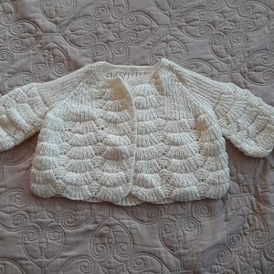 Crocheted Yellow Sweater